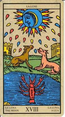 Los arcanos del tarot: La Luna Tarot