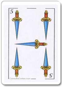 Los arcanos menores: El cinco Tarot