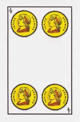 Los arcanos menores: El cuatro Tarot