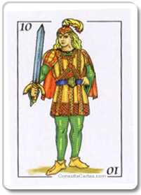 Los arcanos menores: El diez Tarot