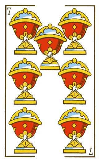Los arcanos menores: El siete Tarot