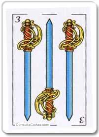 Los arcanos menores: El tres Tarot