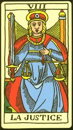 Los arcanos tarot: La Justicia Tarot